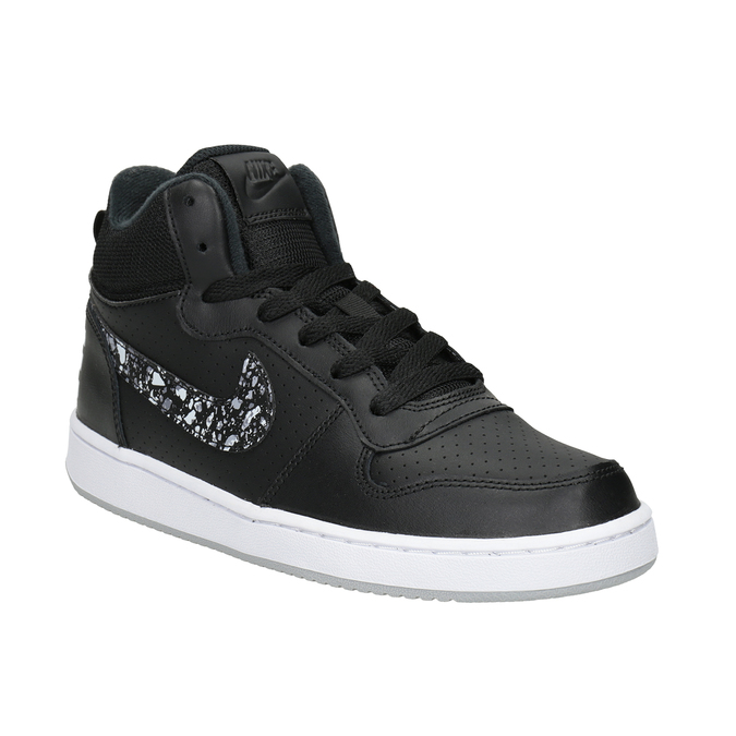 Children's High Top Sneakers nike, black , 401-0532 - 13