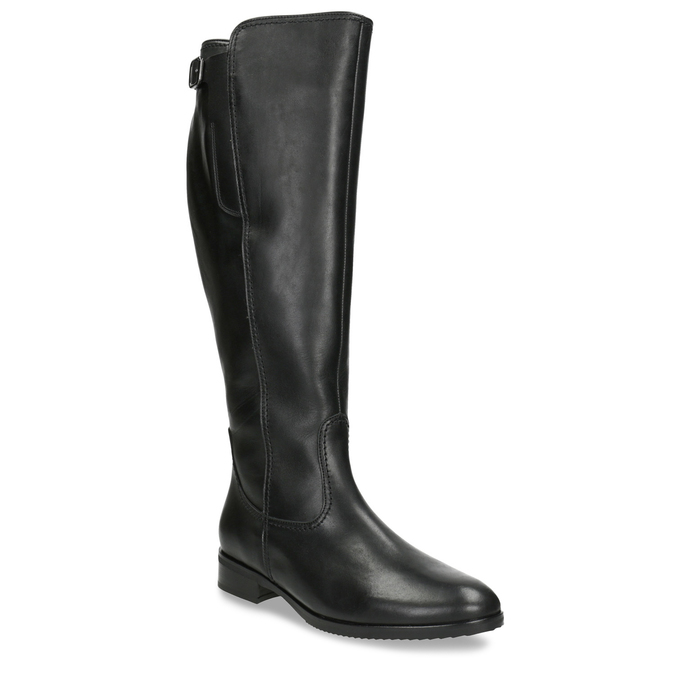 Ladies' Black Leather High Boots, black , 694-6164 - 13