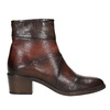 Ladies' leather high ankle boots bata, brown , 696-4653 - 26