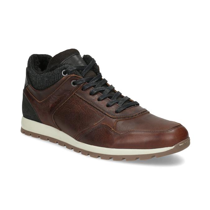 Leather Winter Sneakers bata, brown , 846-4646 - 13