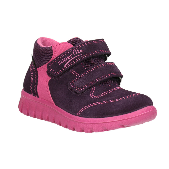 Children's leather ankle boots superfit, violet , 123-5036 - 13