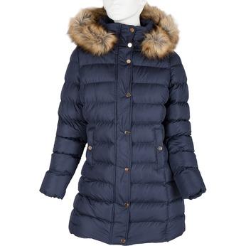 Ladies' winter jacket with fur bata, blue , 979-9134 - 13