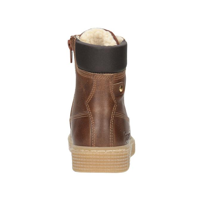 Children's Brown Winter Boots mini-b, brown , 496-4620 - 16
