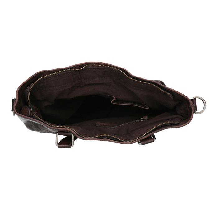 Brown Leather Handbag bata, brown , 964-4245 - 15