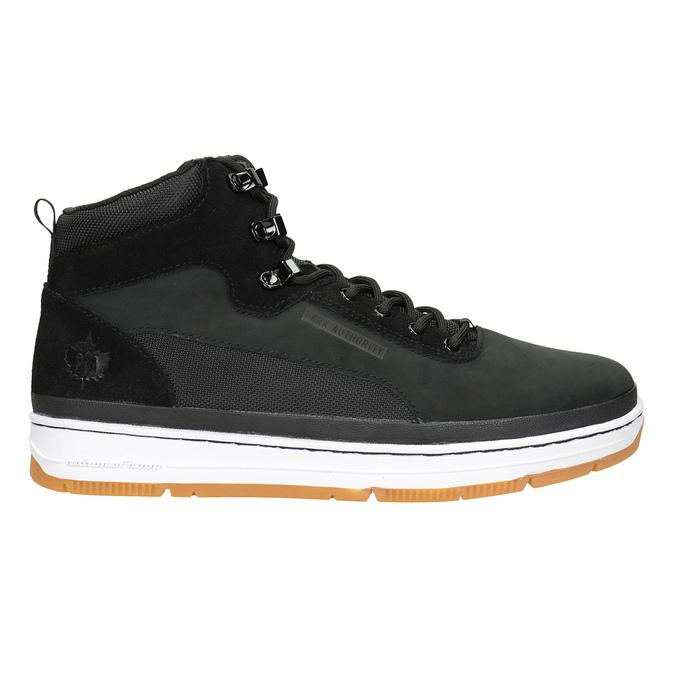 Men's leather ankle boots k1x, black , 806-6552 - 26