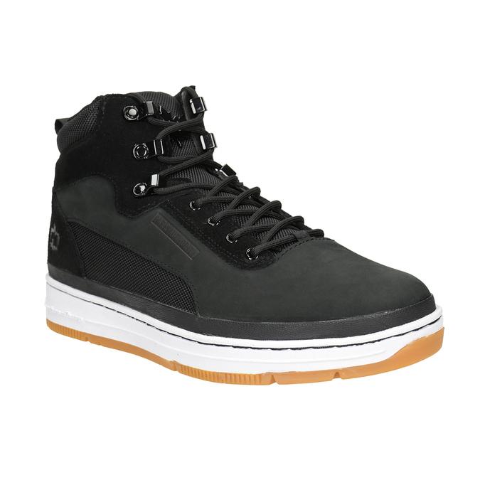 Men's leather ankle boots k1x, black , 806-6552 - 13