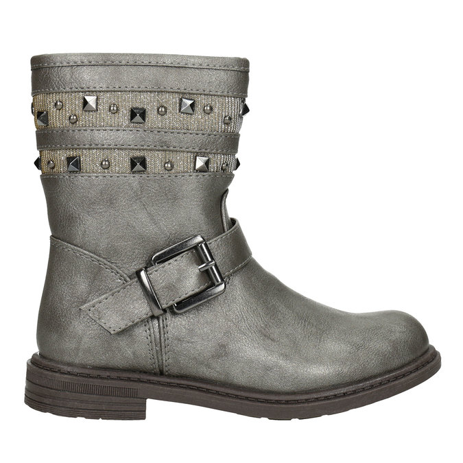 Girls' High Boots with Studs mini-b, gold , 291-3398 - 26