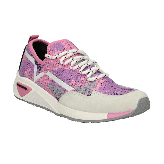 Pink sporty sneakers diesel, pink , 509-5760 - 13