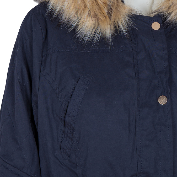 Ladies' Parka with Removable Fur bata, blue , 979-9131 - 16