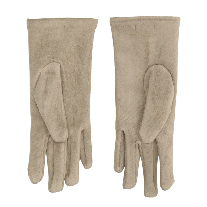 Ladies' Textile Gloves with Buttons, beige , 909-8612 - 16