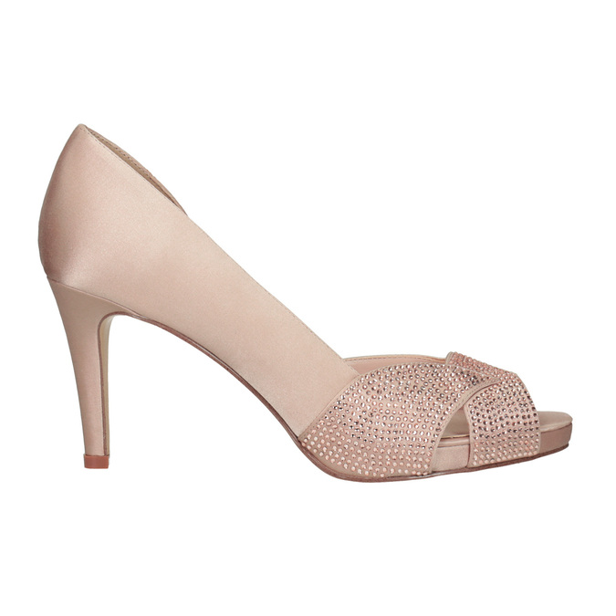 Formal Pumps with Rhinestones bata, pink , 729-8613 - 16