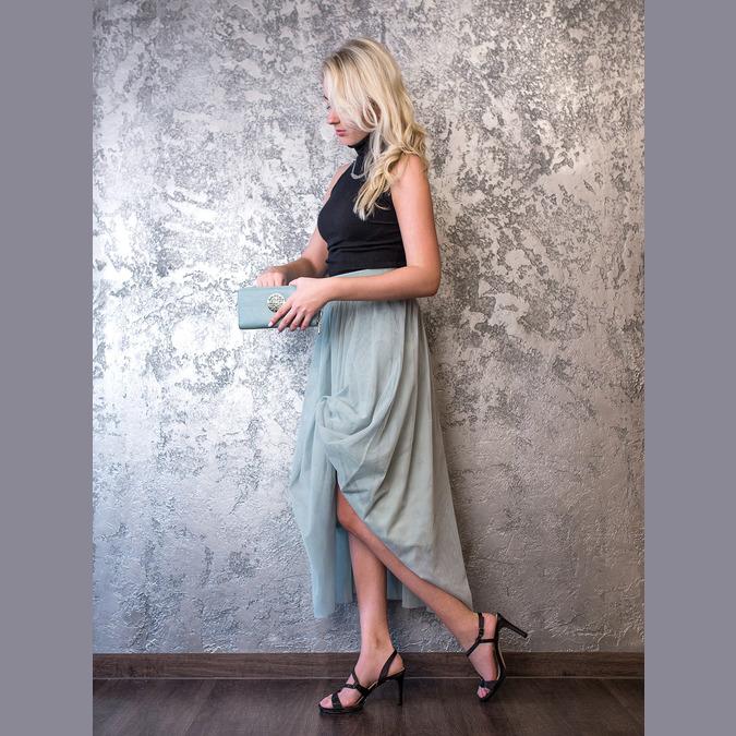 Ladies' party sandals with rhinestones bata, black , 729-6611 - 19