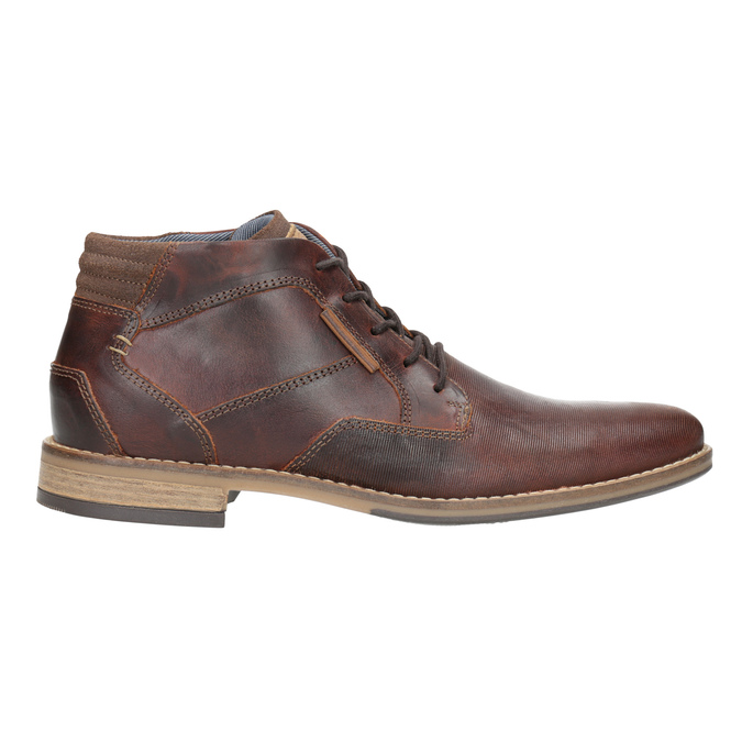 Men's leather ankle boots bata, brown , 826-3926 - 26