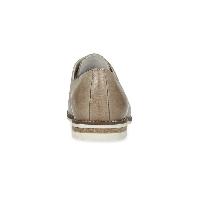 Ladies' leather shoes bata, beige , 526-8650 - 15