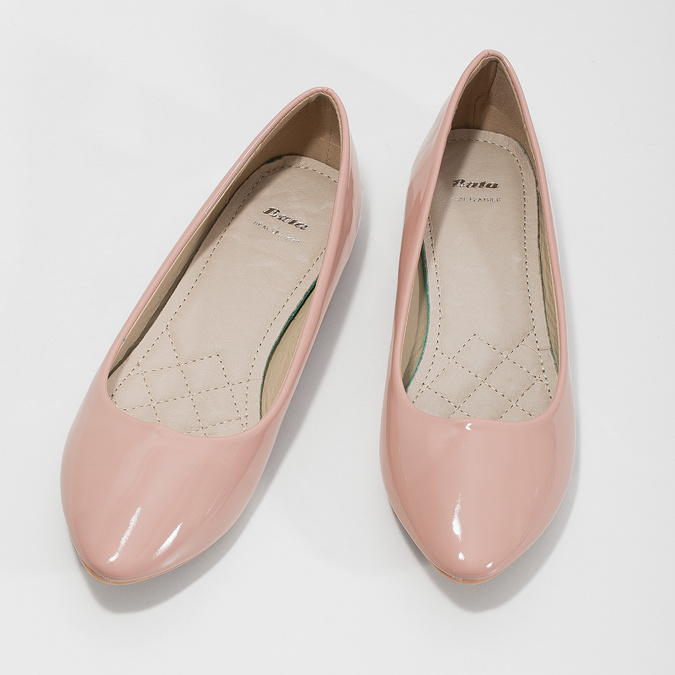 Ladies' patent-leather ballerinas bata, pink , 521-5602 - 16