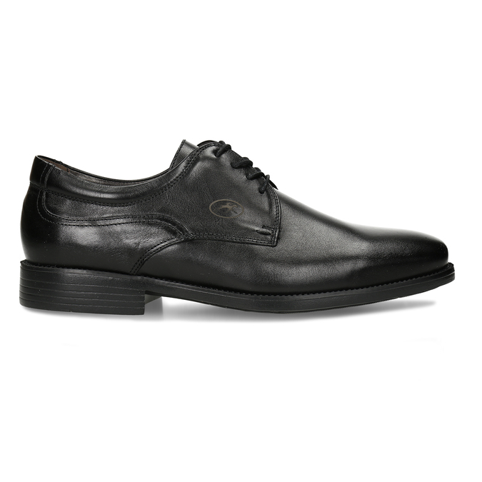 Men's Leather Derby Shoes fluchos, black , 824-6440 - 19