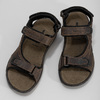 Leather sandals with Velcro fasteners, 866-4631 - 16